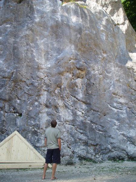 Rock Climbing Photo: scoping routes...