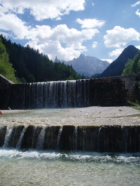 Rock Climbing Photo: A really refreshing bath, in the town of Kranjska ...