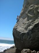 Rock Climbing Photo: Climbing the upper arete