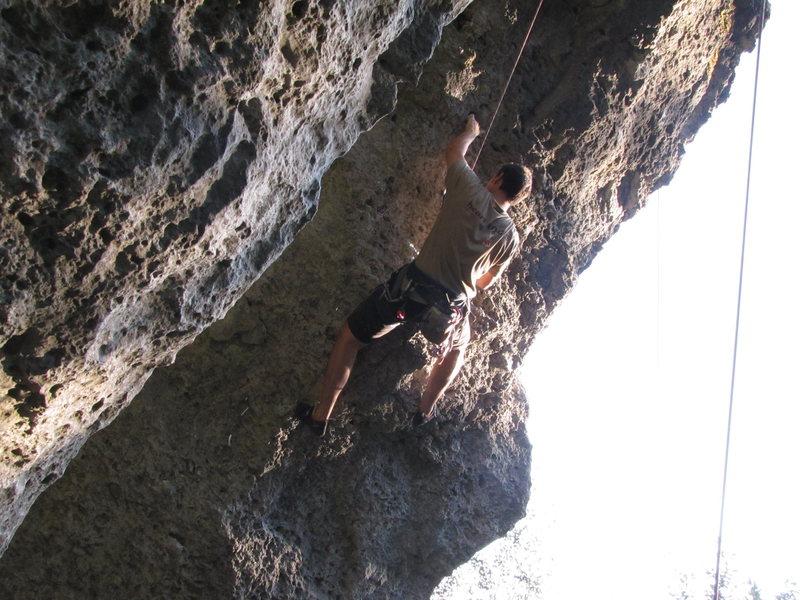 Rock Climbing Photo: Marco working through the overhanging Der mit dem ...