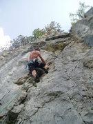 Rock Climbing Photo: half way up...