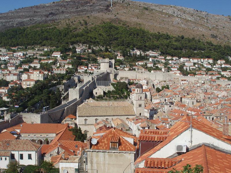 city walls of Dubrovnik<br>