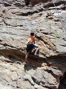 Rock Climbing Photo: Near the 1st crux.