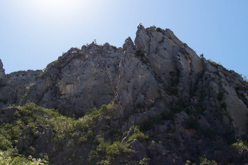 Rock Climbing Photo: Hidden, unclimbed wall, El Potrero Chico.