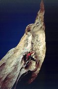 Rock Climbing Photo: Book of Changes, Bighorn Mating Grotto, 1990