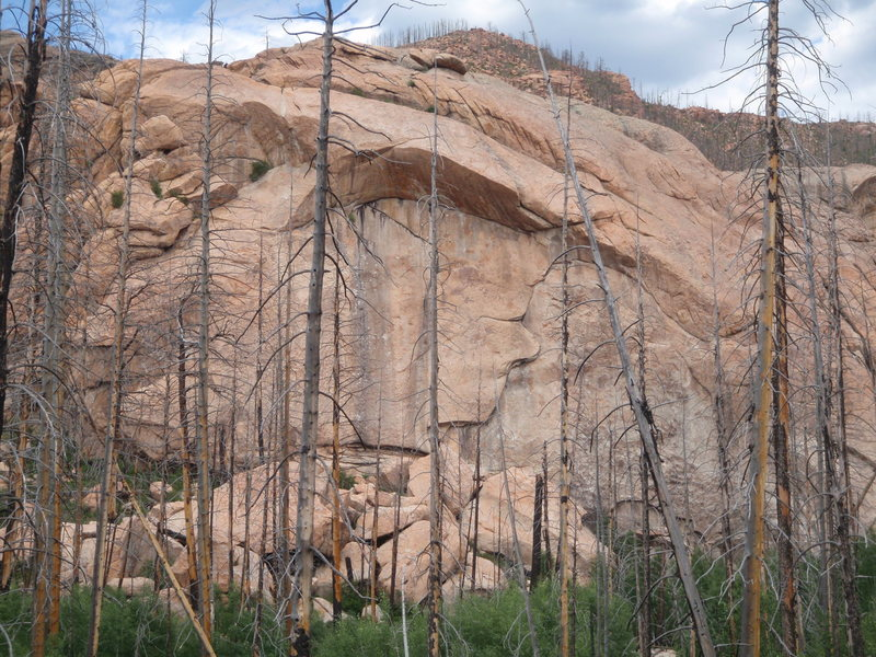 """Rock Climbing Photo: View of Quarry Wall on the approach.  """"Undert..."""
