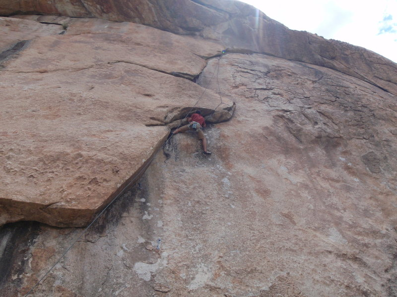 Rock Climbing Photo: For the direct start, there are two bolts, the top...