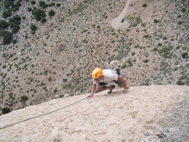 Rock Climbing Photo: Geoff Ruth topping out