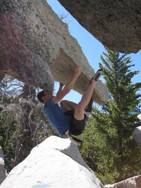 Rock Climbing Photo: Hanging on the dragon head.