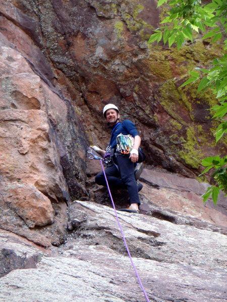 Rock Climbing Photo: Starting the Long John Wall