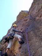 Rock Climbing Photo: Starting the second pitch, Long John Wall