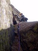 Rock Climbing Photo: Final Pitch, Long John Wall