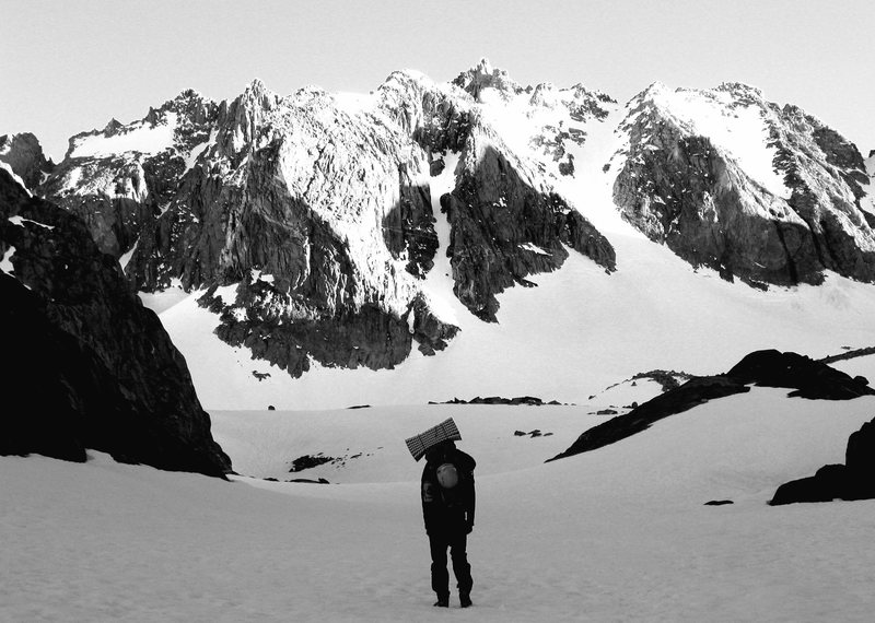 Above Sam Mack meadow, approaching T-Bolt and the Palisade Glacier, June 2011
