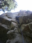 Rock Climbing Photo: Almost up the bottom half....