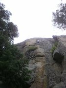 Rock Climbing Photo: Committing to the upper crack....
