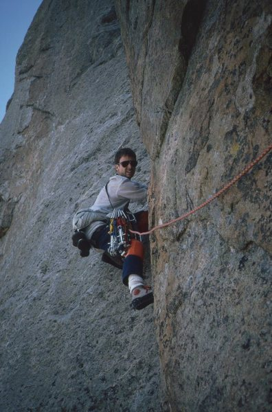 Rock Climbing Photo: Lowe Route (West Face) Squaretop, Wind River Range...