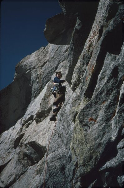 Rock Climbing Photo: Flashflood, Haystack, Wind Rvr Rng, 1983