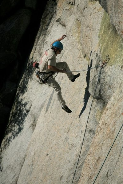 Rock Climbing Photo: Catching some air on Paranoia streak - thanks for ...