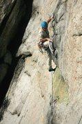 Rock Climbing Photo: Starting the fall