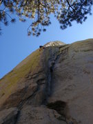 Rock Climbing Photo: Chris Abbott doing what he loves best - slab with ...
