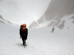 Rock Climbing Photo: Nearing the top of the Mountaineer's Route main co...