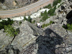 Rock Climbing Photo: Looking down from the summit.