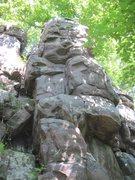 Rock Climbing Photo: Climb up the middle of this pillar.