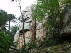 Rock Climbing Photo: Chimney up the gap.