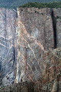 Rock Climbing Photo: This topo starts at pitch 4.  The bottom pitches a...