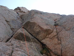 Rock Climbing Photo: Trout Man on pitch 3.