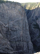 Rock Climbing Photo: The Tourist Route as seen from the overlook.