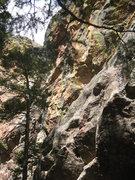 Rock Climbing Photo: Hippopotamus, 5.10d, the Slab, Fern Canyon, Flatir...