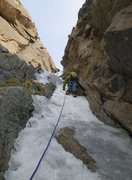 Rock Climbing Photo: 06-05-11 Right branch of the AI double slab chimne...