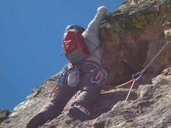 Rock Climbing Photo: 07-02-2011 Lieback Flake on Sharkstooth NE Ridge P...