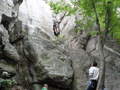 Rock Climbing Photo: Climbing WGWP route.