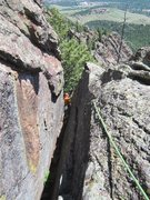 Rock Climbing Photo: Micah emerges from the squeeze on 'Some Advice Is ...