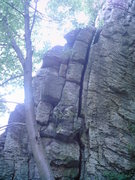 Rock Climbing Photo: Mister Gut Wrench follows the offwidth to the top.
