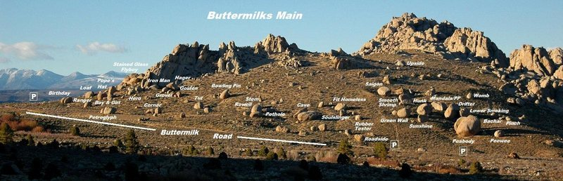 Rock Climbing Photo: Buttermilks Main Overview