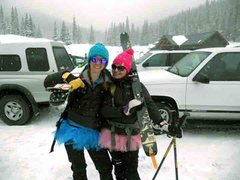 Rock Climbing Photo: jane and me! Peacefull valley! Easter Snow Bunnies...