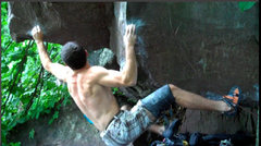 Rock Climbing Photo: The shouldery move out left