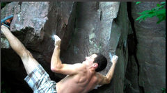 Rock Climbing Photo: Getting the toehook