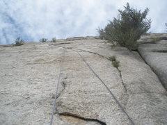 Rock Climbing Photo: Looking up at my sewing job of the dutchman. The c...