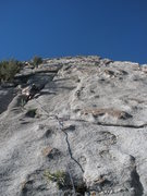 Rock Climbing Photo: Steve starting the 2nd section of the climb, the r...