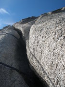 Rock Climbing Photo: Shove whatever body part you can get to stay in th...