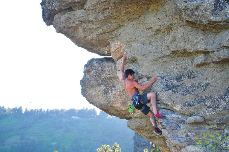 Rock Climbing Photo: Last moves