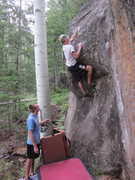 "Rock Climbing Photo: Everet ""warming-up""."