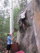 Rock Climbing Photo: Game on.