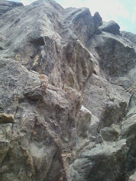 Rock Climbing Photo: Brenda from Kansas (5.13), the Overlook; the route...