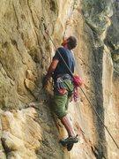 Rock Climbing Photo: Rich Strang taking a look.
