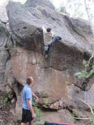 Rock Climbing Photo: Topping out the Exhumer.